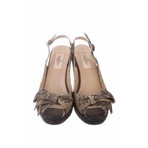 Valentino slingback lace wedges size 8